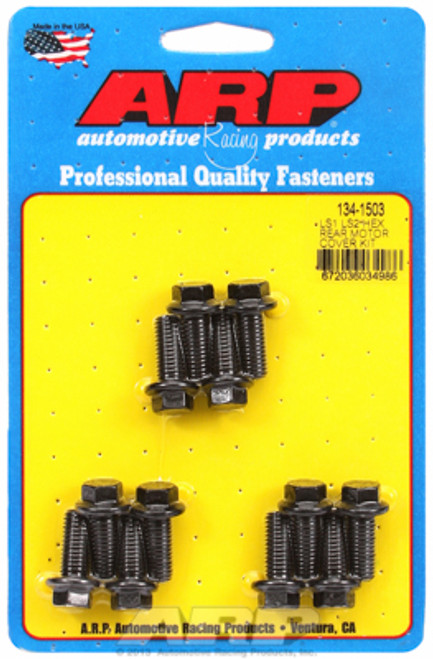 ARP 134-1503 Rear Engine Cover Bolts - GM LS Gen III/IV Engines - Black Hex Head