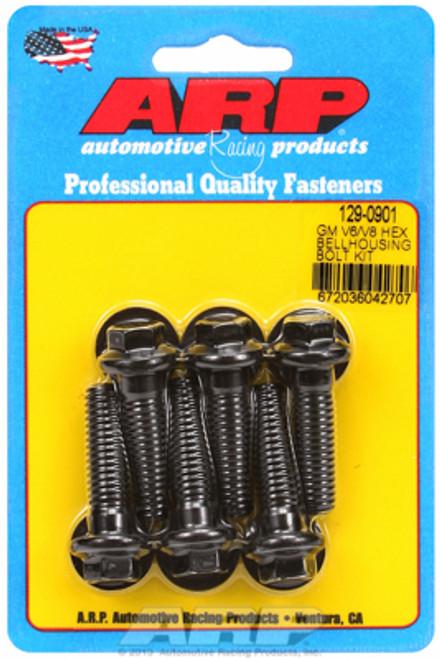 ARP 129-0901 GM Chevy Small Block/Big Block Bellhousing Bolt Kit Black Hex Head