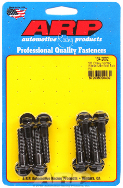 ARP 134-2002 Intake Manifold Bolt Kit - Small Block Chevy Vortec Heads Black Hex
