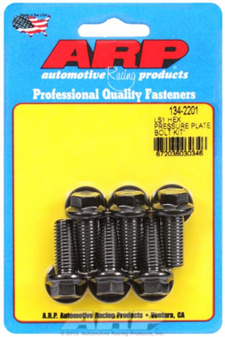 ARP 134-2201 Clutch Pressure Plate Bolt Kit - GM LS Engines Black Oxide Hex Head