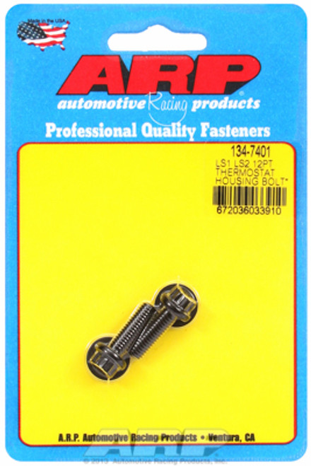 ARP 134-7401 Thermostat Housing Bolts - GM LS1/LS Engines - Black 12pt Head