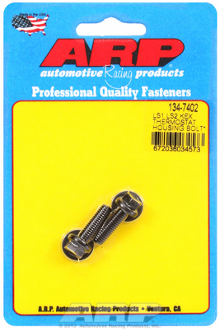 ARP 134-7402 Thermostat Housing Bolts - GM LS1/LS Engines - Black Hex Head