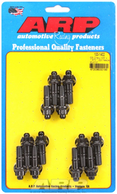 "ARP 100-1402 3/8"" Header Stud Kit Small Block Chevy 12-Point Nut 12pc 1.670"" UHL"