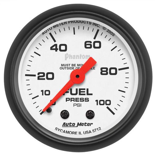 AutoMeter 5712 Phantom Mechanical Fuel Pressure Gauge