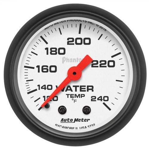 AutoMeter 5732 Phantom Mechanical Water Temperature Gauge