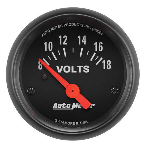AutoMeter 2645 Z-Series Electric Voltmeter Gauge