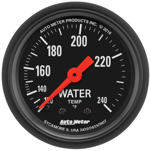 AutoMeter 2607 Z-Series Mechanical Water Temperature Gauge