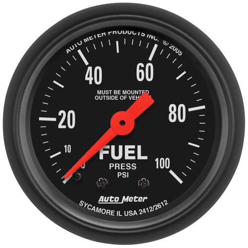 AutoMeter 2612 Z-Series Mechanical Fuel Pressure Gauge