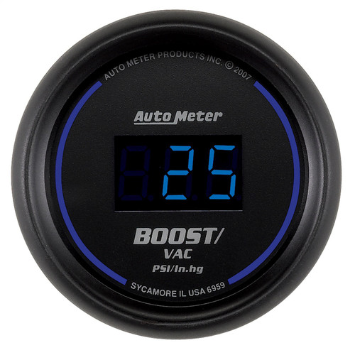 AutoMeter 6959 Cobalt Digital Boost/Vacuum Gauge