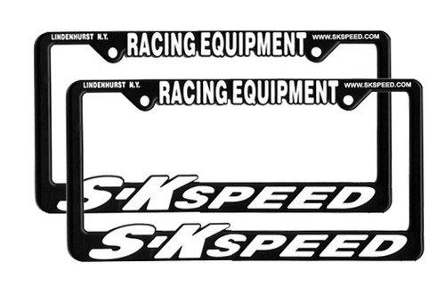 S-K Speed Racing Equipment License Plate Frame - Pair