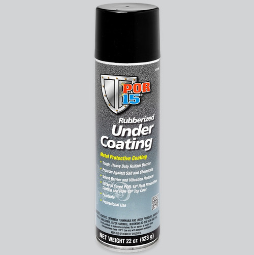 POR 15 49308 Rubberized Black Undercoating - (1) 22oz Aerosol Can - Paintable