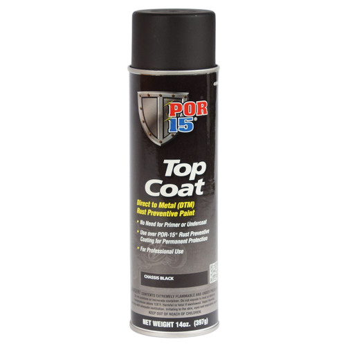 POR 15 45918 Chassis Black Top Coat - 14oz Aerosol Can - Each