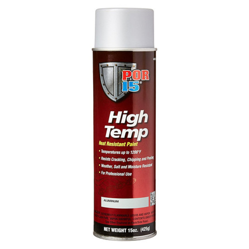 POR 15 44318 High Temp Aerosol Header Paint - 1200 Degree - Aluminum 15oz Can