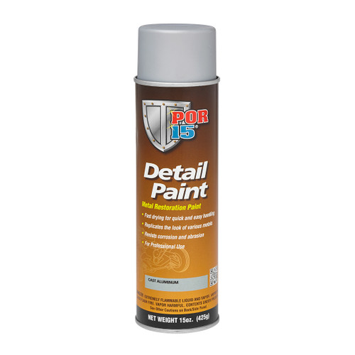 POR 15 41618 Aerosol Restoration Detail Paint - Cast Alumimum - 15oz Can