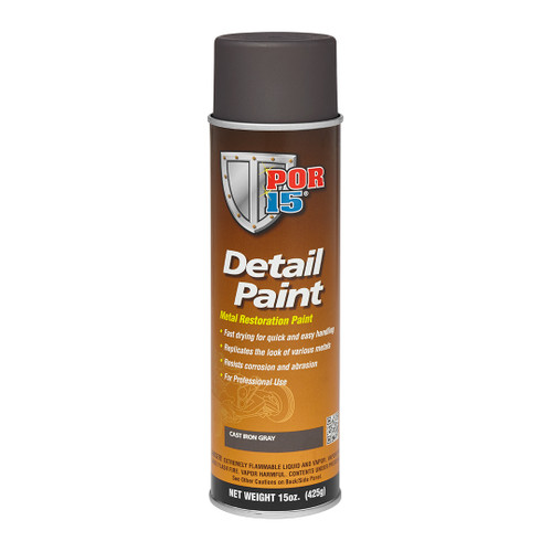 POR 15 41718 Aerosol Restoration Detail Paint - Cast Iron Gray - 15oz Can