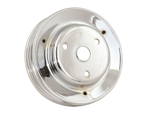 Mr Gasket 4978 Chrome Plated Steel Crankshaft Pulley