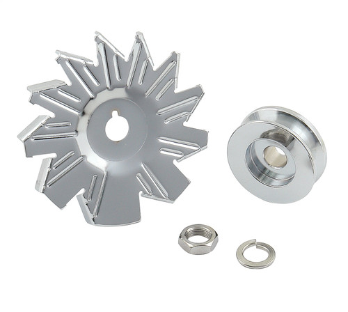 Mr Gasket 6808 Chrome Plated Alternator Fan And Pulley Kit