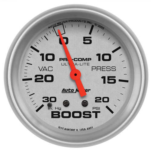 AutoMeter 4401 Ultra-Lite Mechanical Boost/Vacuum Gauge
