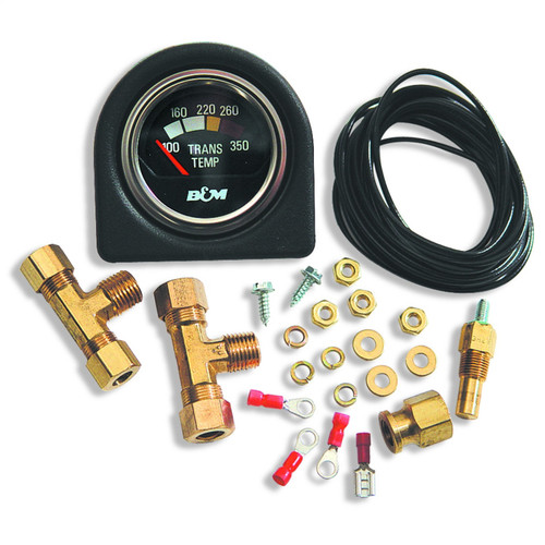 B&M 80212 Automatic Transmission Oil Temperature Gauge Kit