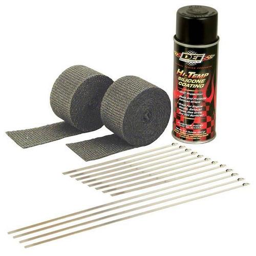 DEI 010330 Motorcycle Exhaust Pipe Wrap Kit - 30 Feet of Black Wrap/Ties/Coating