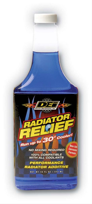 DEI 040200 Radiator Relief Coolant Additive - Blue - 16 oz Up to 30 Degree Drop