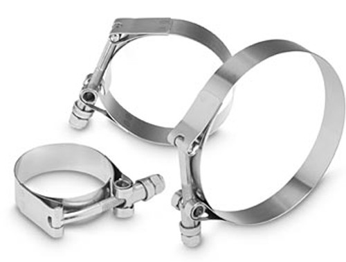 "Clampco AKI200 T-Bolt Band Clamp - 1.87""-2.12"" Range - Each - Stainless Steel"
