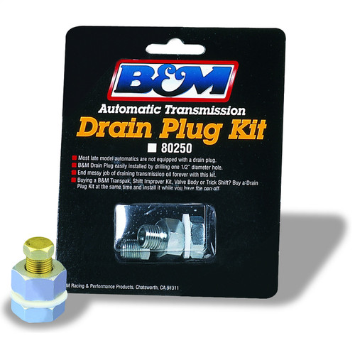 B&M 80250 Drain Plug Kit Transmission Oil Pan Drain Plug