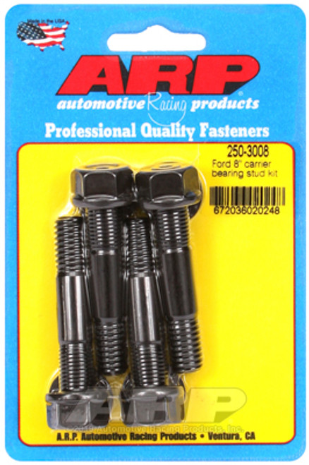 "ARP 250-3008 8"" Ford Carrier Bearing Stud Kit - Black Oxide - Set of 4"
