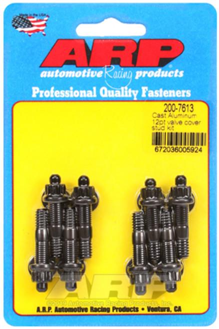 """ARP 200-7613 Valve Cover Stud Kit - Black - 12PT Head - 8pc - 1.500"""" OAL"""