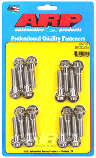 ARP 435-2102 Stainless Steel Intake Manifold Bolts - Big Block 502 Chevy - 12 Pt