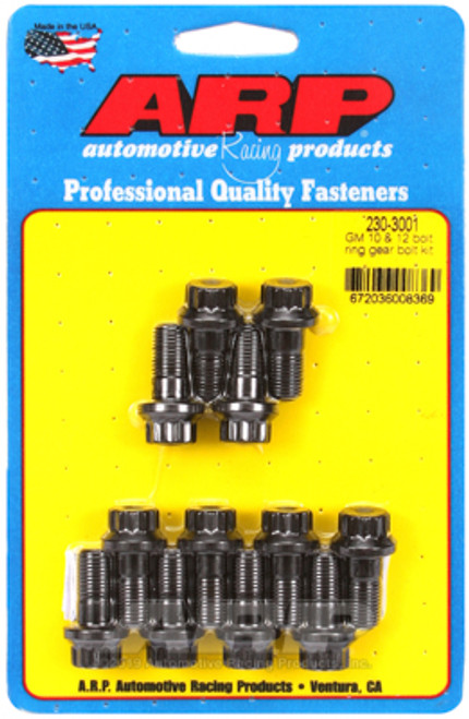 "ARP 230-3001 Ring Gear Bolts - GM 10 & 12 Bolt - 3/8-24 - 0.800"" UHL"