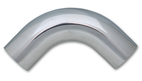 "Vibrant 2158 90 Degree Air Intake Tube 6061 Polished Aluminum - 1.5"" - 4"" Legs"