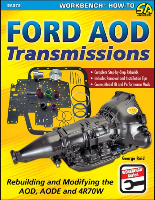 SA Designs SA279 Book - Rebuilding & Modifying Ford AOD Transmissions 4R70W/AODE