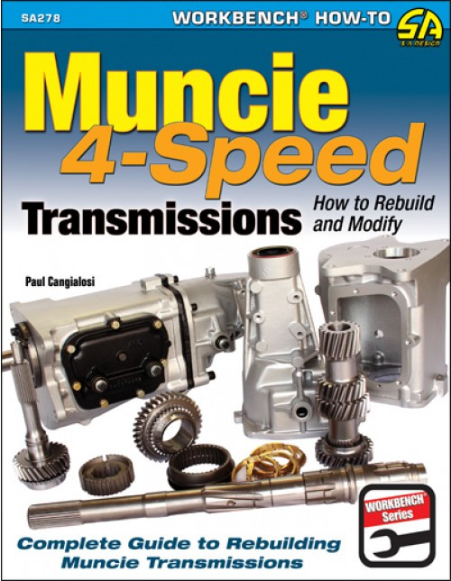 SA Designs SA278 Book - Muncie 4-Speed Transmissions How to Build/Modify 144pgs
