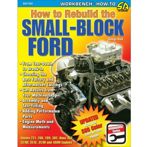SA Designs SA102 Performance Book - How To Rebuild the Small Block Ford - 144pgs