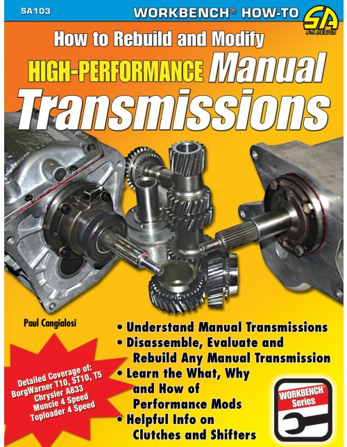 SA Designs SA103 Book - How To Build/Modify Performance Manual Transmissions
