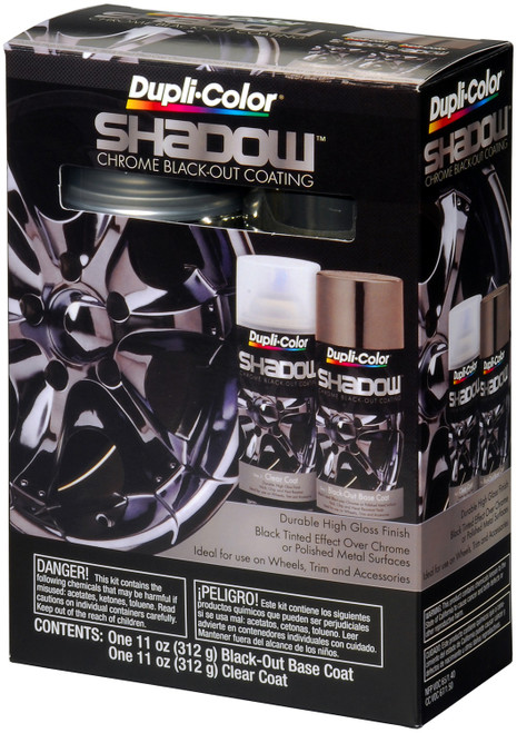 Dupli-Color Paint SHD1000 Dupli-Color Shadow Chrome Black-Out Coating Kit