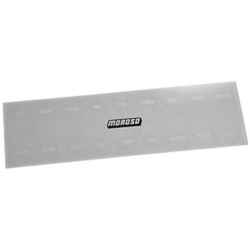 Moroso 97542 Replacement Labels - Race Car Switch Panel - White Lettering