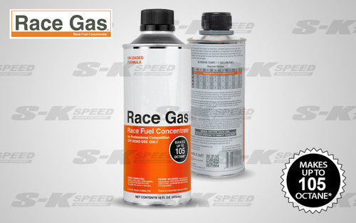 Race Gas 100016 Fuel Additive Race Gas Concentrate up to 107 Octane 16oz