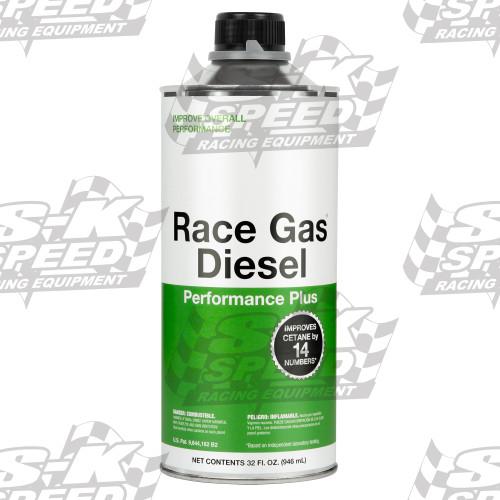 Race Gas 300032 Diesel Performance Plus : Raise CTANE 14 Points 32oz