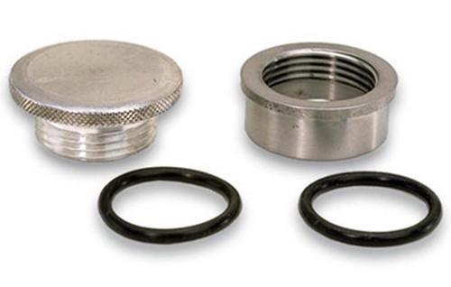 "Moroso 85280 Universal Weld-On Filler Cap Kit - 1.5"" OD Steel Bung - O-Ring Seal"