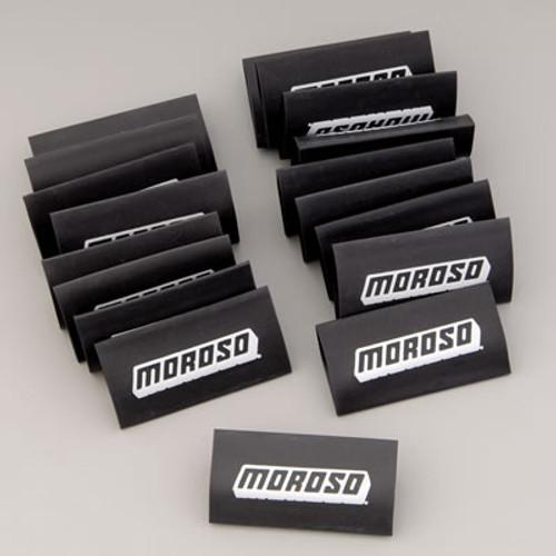 Moroso 72031 Spark Plug Wire Shrink Sleeves - Black - Set of 18 With Logo