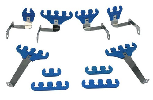 Moroso 72130 Spark Plug Wire Loom Kit - Ford Small Block - Blue - 7-9mm Wires