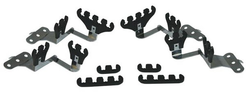 Moroso 72143 Small Block Chevy Wire Loom Kit for Centerbolt Heads Black - 7-9mm