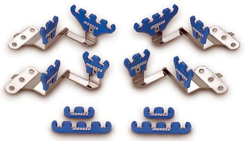 Moroso 72140 Small Block Chevy Wire Loom Kit for Centerbolt Heads - Blue - 7-9mm