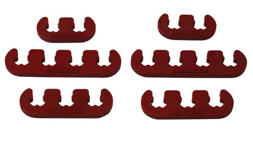 Moroso 72161 Spark Plug Wire Separators - Red - 7-9mm Wires - Set of 6