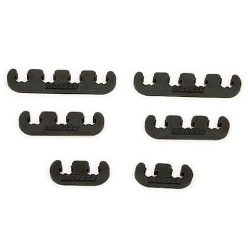 Moroso 72163 Spark Plug Wire Separators - Black - 7-9mm Wires - Set of 6