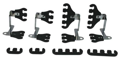 Moroso 72174 Small Block Chevy Spark Plug Wire Super Loom Kit - Black/Chrome
