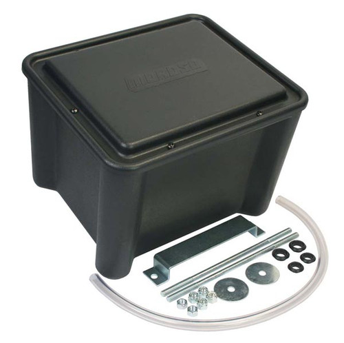 "Moroso 74051 Sealed Plastic Battery Relocation Box - NHRA  13"" x 11"" x 11"" Black"