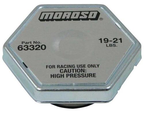 Moroso 63320 Racing Radiator Cap - 19-21 psi - Hex Head - Standard Size